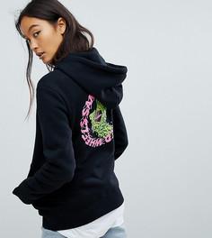 Худи с логотипом на спине Santa Cruz - Черный