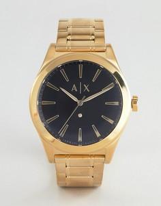 Часы и браслет в подарочном наборе Armani Exchange AX7104 - Золотой