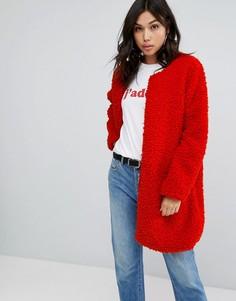 Пальто Boohoo - Красный