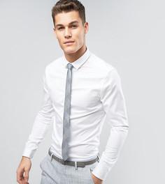 Белая атласная рубашка узкого кроя ASOS TALL - Белый