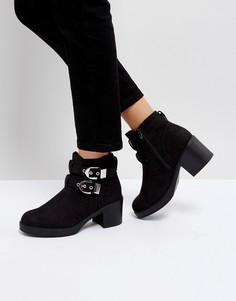 Ботинки на каблуке с пряжками Truffle Collection - Черный