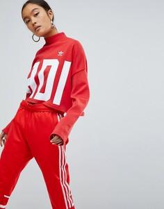 Укороченный свитшот adidas Originals Bold Age - Красный