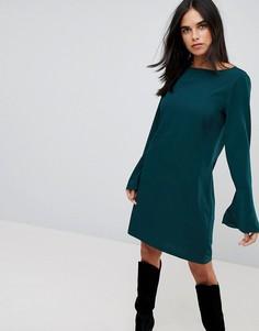 Платье с рукавами-клеш Vila - Зеленый