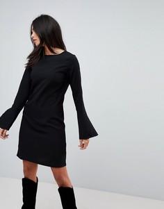 Платье с рукавами-клеш Vila - Черный