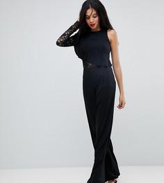 Комбинезон на одно плечо с широкими штанинами Missguided Tall - Черный