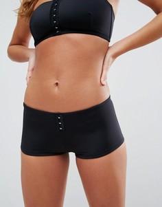 Комбинируемые трусы-шорты бикини ASOS - Черный