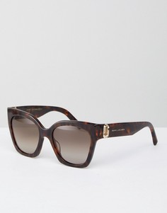 Солнцезащитные очки в толстой оправе кошачий глаз Marc Jacobs - Коричневый