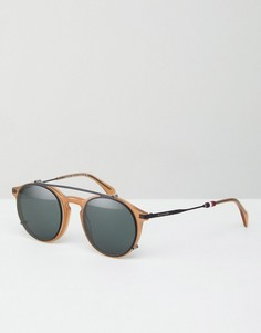 Круглые солнцезащитные очки Tommy Hilfiger - Черный