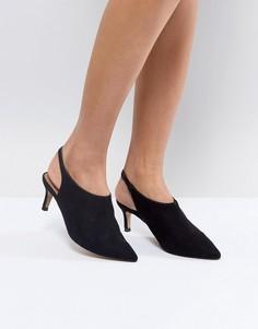 Туфли на каблуке-рюмочка с ремешком на пятке ASOS SOLUTION - Черный
