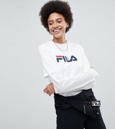 Оверсайз-футболка бойфренда с логотипом на груди Fila - Белый