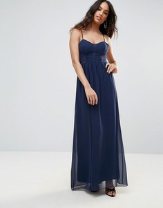Темно-синее вечернее платье макси BCBG - Темно-синий