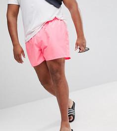 Ярко-розовые шорты для плавания ASOS PLUS - Розовый