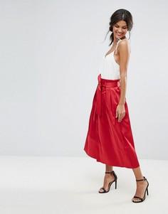 Юбка миди для выпускного Closet - Красный