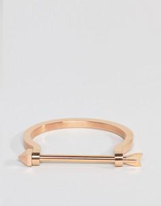 Золотисто-розовый браслет со стрелой Mister - Золотой