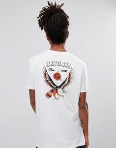 Длинная футболка с принтом ASOS - Белый