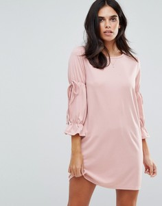 Платье с завязками на рукавах Vero Moda - Розовый