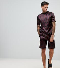 Атласная пижама с принтом пейсли ASOS - Красный