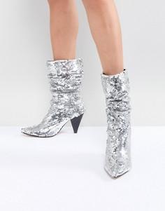 Ботинки с пайетками River Island - Серебряный