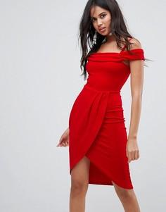 Платье миди с запахом AX Paris - Серый