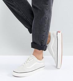 Замшевые кроссовки кремового цвета Vans Old Skool - Кремовый