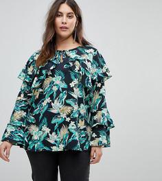 Блузка с длинными рукавами и цветочным принтом Koko - Мульти