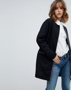 Пальто без воротника mByM - Черный
