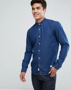 Джинсовая облегающая рубашка Tom Tailor - Темно-синий
