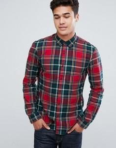Рубашка в клетку классического кроя Tom Tailor - Красный