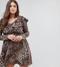 Платье с оборкой Club L Plus - Мульти