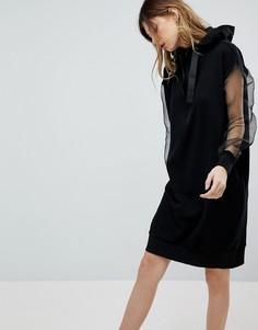 Платье с капюшоном и длинными рукавами Noisy May - Черный