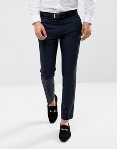 Темно-синие строгие брюки слим River Island - Темно-синий