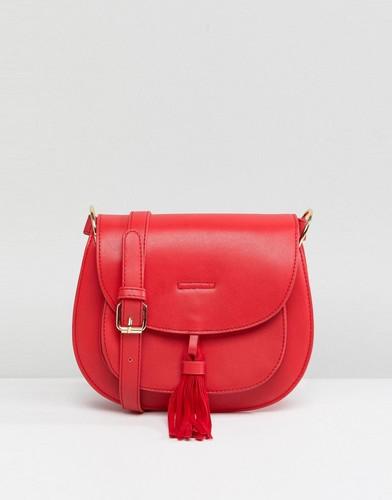 Красная сумка-седло с кисточкой Glamorous - Красный