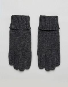 Серые вязаные перчатки Esprit - Серый
