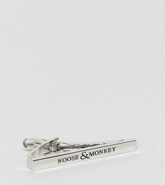 Зажим для галстука с логотипом Noose & Monkey - Серебряный