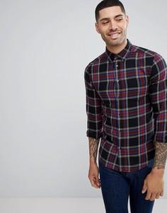 Клетчатая рубашка на пуговицах Wrangler - Черный