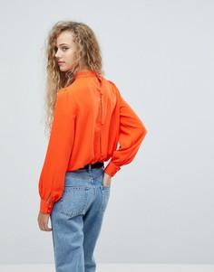 Черная блузка на пуговицах Love - Оранжевый