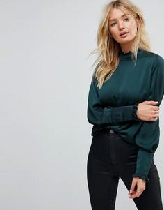 Блузка с высоким воротом ASOS - Зеленый