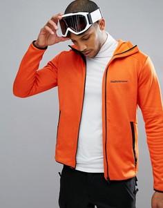 Худи из флиса оранжевого цвета на молнии Peak Performance - Оранжевый