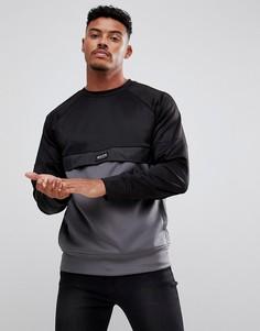 Черный спортивный свитшот с серой вставкой Nicce London - Черный