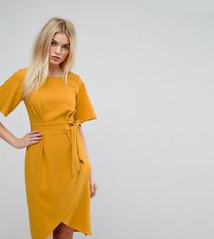 Платье с рукавами‑кимоно и поясом Closet London - Оранжевый