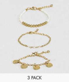 3 браслета ASOS - Золотой