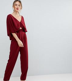 Комбинезон с рукавами-кимоно и широкими брюками ASOS TALL - Фиолетовый