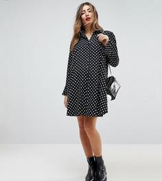 Платье-рубашка в горошек с длинными рукавами ASOS Maternity - Мульти
