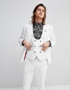 Супероблегающий пиджак Noose & Monkey - Белый