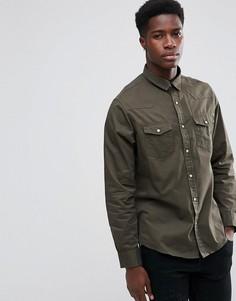 Рубашка с длинными рукавами и двумя карманами Brave Soul - Зеленый