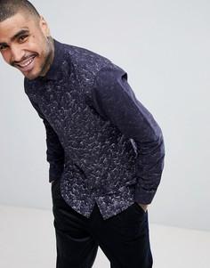 Рубашка скинни с принтом Noose & Monkey - Темно-синий