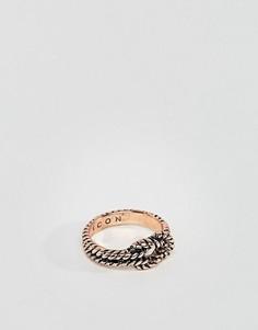 Кольцо с узелком Icon Brand - Золотой