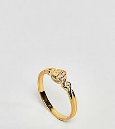 Кольцо в винтажном стиле из позолоченного серебра ASOS - Золотой