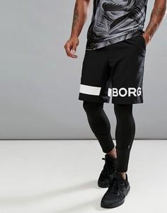 Шорты с логотипом Bjorn Borg Performance - Черный