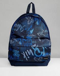 Темно-синий рюкзак с принтом логотипа Quiksilver - Темно-синий
